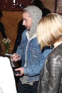 Shia LaBeouf with Speck at Sundance 2013