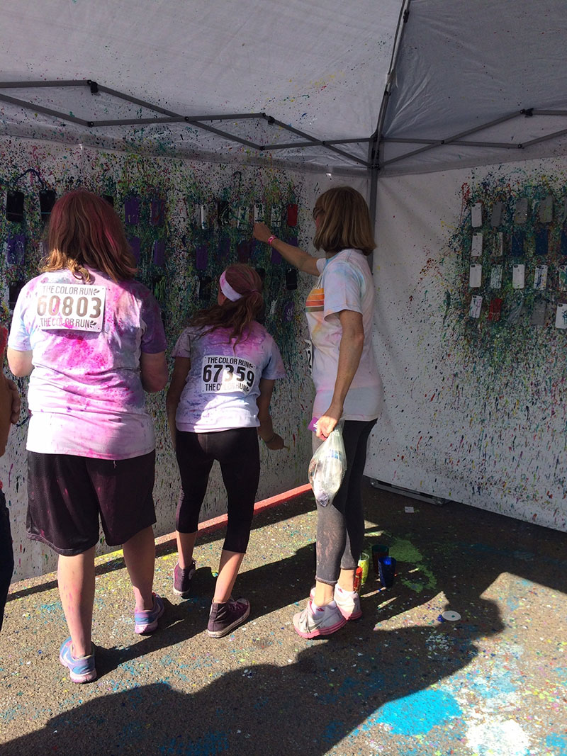 Color runners splatter painting Speck CandyShell cases