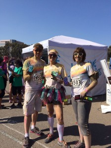 Color runners proudly showing off their new colorful Speck CandyShell cases