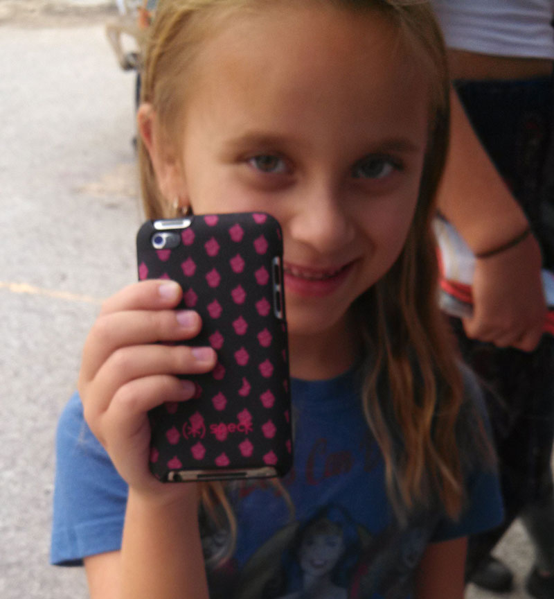 Speck at Miami Mini Maker Faire - One of our youngest patrons was very proud of her cupcake (*) SPECK case for her iPod Touch