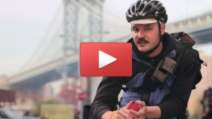 Gothamist: Think You're Tough On Your Phone? Watch An NYC Bike Messenger Give His Phone A Hard Run