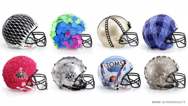 To celebrate Super Bowl XLVIII in New York, Bloomingdale's teamed up with the CFDA to create 48 bespoke helmets to be auctioned, proceeds going toward the NFL Foundation.
