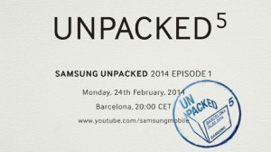 Samsung Unpacked 2014 is on February 24th in Barcelona!