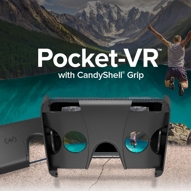Image for Pocket-VR with CandyShell Grip by Speck Products VR case Virtual Reality Viewer