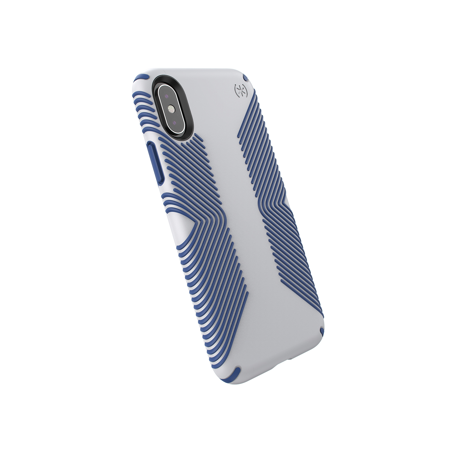 Presidio Grip Microchip Grey/Ballpoint Blue case for iPhone XS