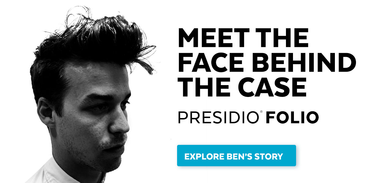 Meet the face behind the case: Presidio Folio. Explore Ben's Story.
