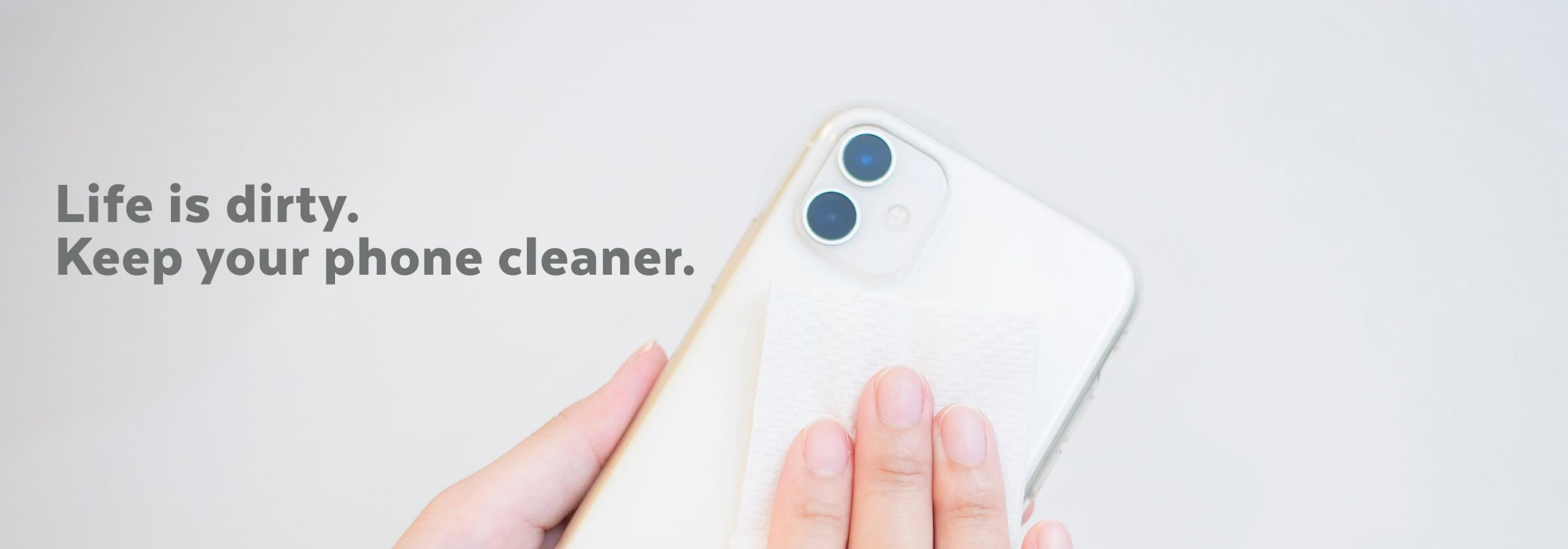 Cleaning a phone case